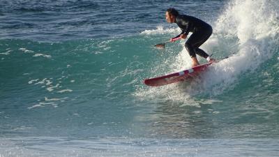 Curso de paddle surf en Barrañan, Arteixo, A Coruña.
